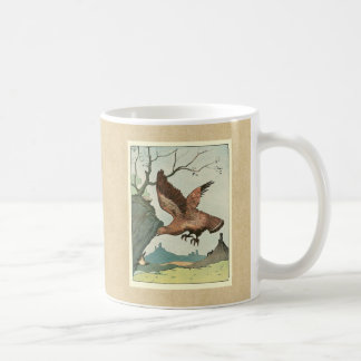 The Golden Eagle Story Book Illustration Basic White Mug