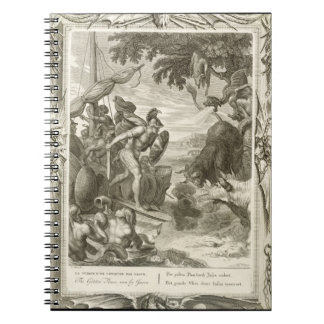 The Golden Fleece Won by Jason (engraving) Notebook