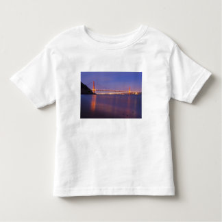 The Golden Gate Bridge at dusk from Kirby Cove Toddler T-Shirt