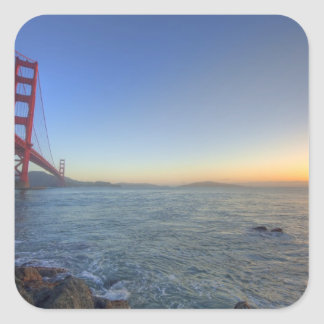 The Golden Gate Bridge at sunrise from Fort Square Sticker