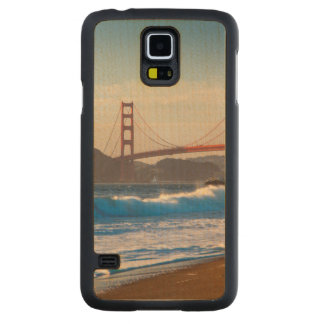 The Golden Gate Bridge From Baker Beach Carved Maple Galaxy S5 Case