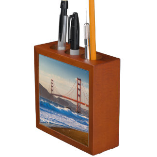 The Golden Gate Bridge From Baker Beach Desk Organiser