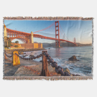 The Golden Gate Bridge From Fort Point Throw Blanket