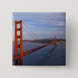 The Golden Gate Bridge from the Marin 15 Cm Square Badge