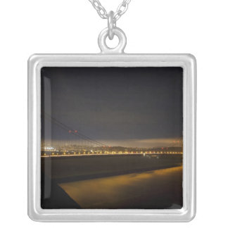The Golden Gate Bridge from the Marin 2 Silver Plated Necklace