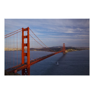 The Golden Gate Bridge from the Marin Poster