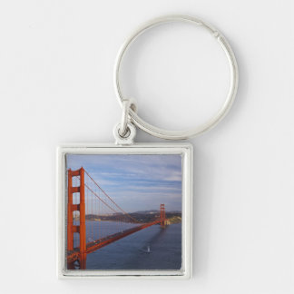 The Golden Gate Bridge from the Marin Silver-Colored Square Key Ring