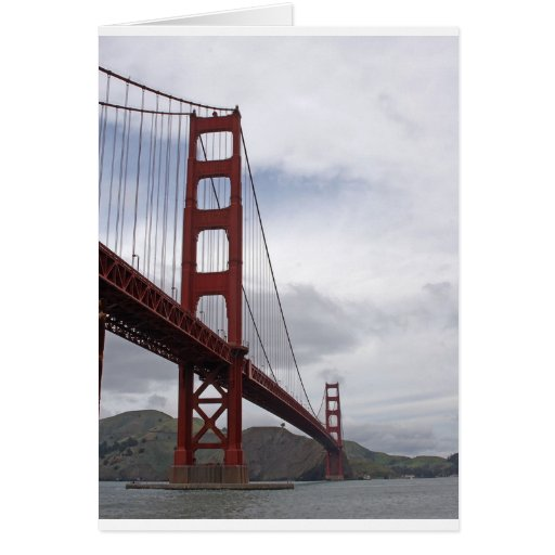 The Golden Gate Bridge San Francisco Greeting Card