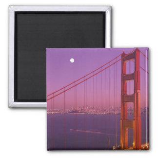 The Golden Gate Bridge shortly after sunset, Square Magnet