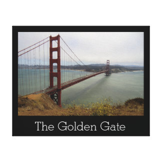 The Golden Gate Wrapped Canvas Stretched Canvas Print