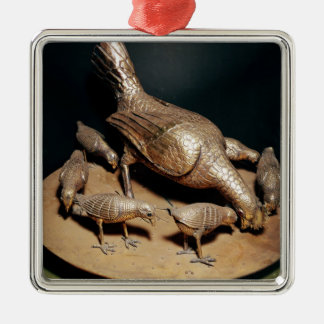 The Golden Hen and her Chicks Christmas Ornament