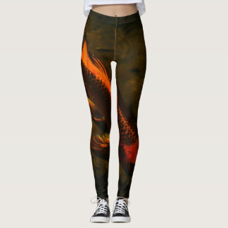 The golden Koi fish Leggings