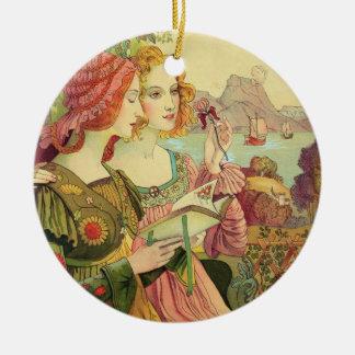 The Golden Legend, 1897, from 'L'Estampe Moderne', Round Ceramic Decoration