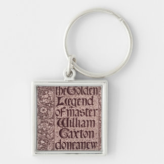 The Golden Legend Silver-Colored Square Key Ring