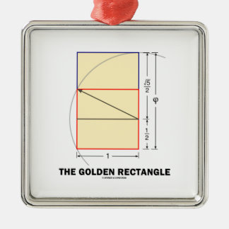 The Golden Rectangle (Geometry Math Ratio) Christmas Ornament
