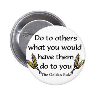 The Golden Rule christian gift item Pinback Button