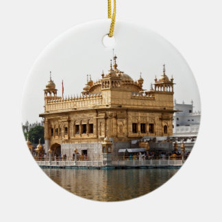 The Golden Temple in Amritsar Round Ceramic Decoration