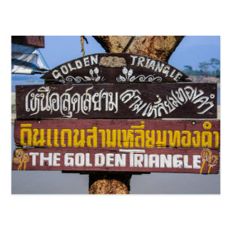 The Golden Triangle Thailand Postcard