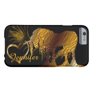 The Golden Unicorn (black) Barely There iPhone 6 Case