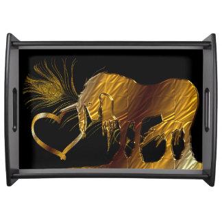 The Golden Unicorn (black) Serving Platter