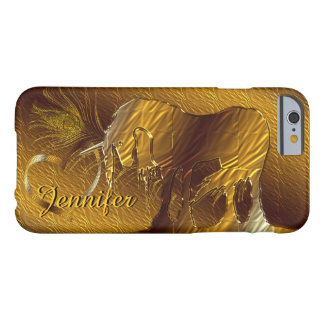The Golden Unicorn (gold background) Barely There iPhone 6 Case