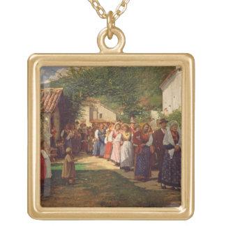 The Golden Wedding (oil on canvas) Pendants