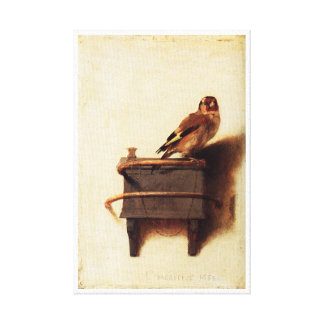 The Goldfinch by Carel Fabritius Stretched Canvas Print