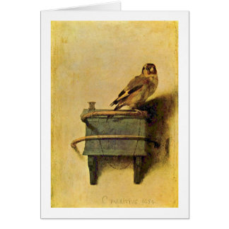 The Goldfinch. By Carel Fabritius Card