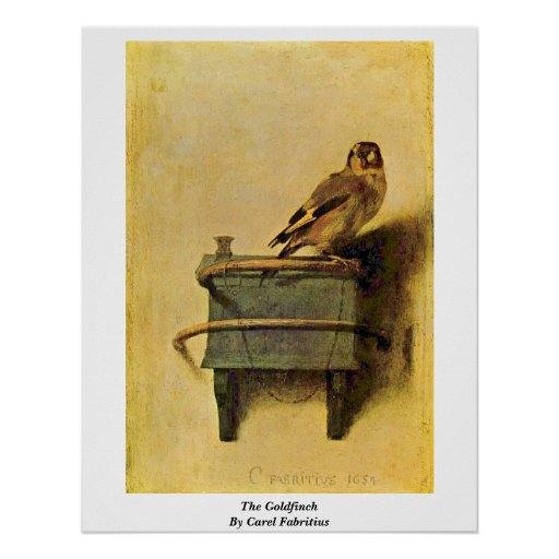 The Goldfinch. By Carel Fabritius Posters