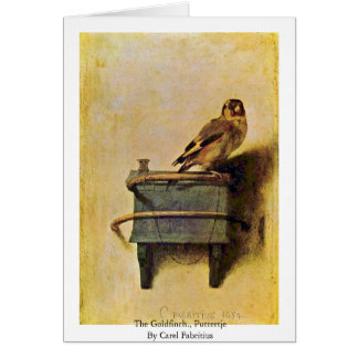 The Goldfinch., Puttertje  By Carel Fabritius Card