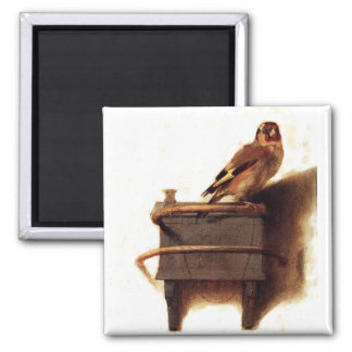 The Goldfinch Square Magnet