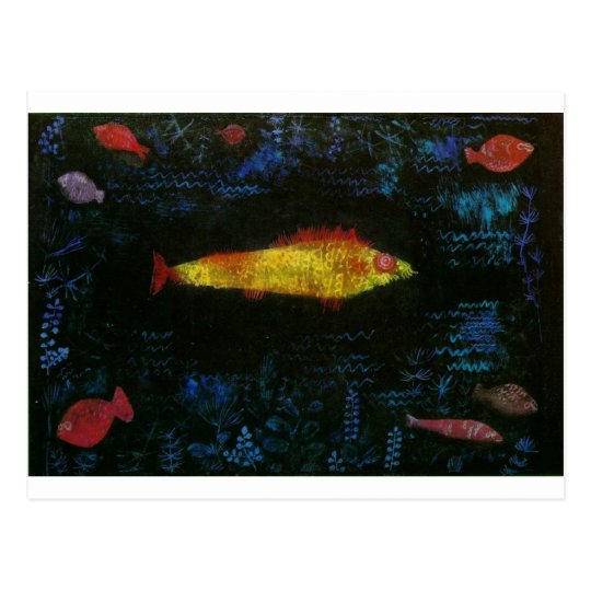 The Goldfish by Paul Klee Postcard
