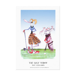 the golf widow, tony fernandes gallery wrapped canvas