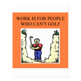 the golfer post cards