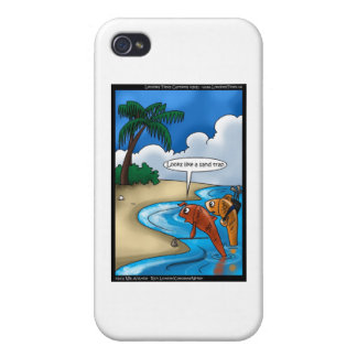 The Golfing Fish Funny Cards & Other Gifts iPhone 4/4S Cover