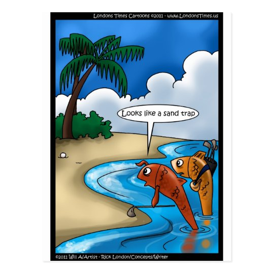 The Golfing Fish Funny Tees Cards & Other