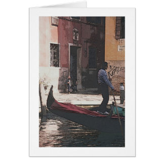 "The Gondolier and the Accordian Player"" Greeting C Greeting Card"