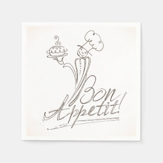 The Good Chef says Bon Appetit! Disposable Napkins