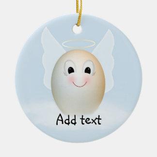 The Good Egg Angel Round Ceramic Decoration