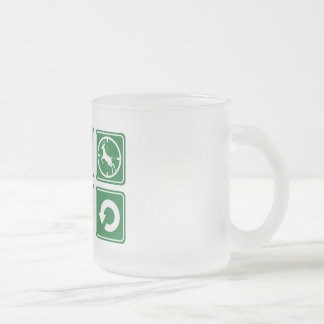 The good life frosted glass mug