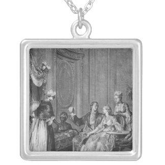 The good omen square pendant necklace