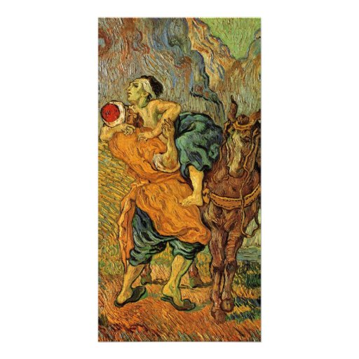 The Good Samaritan after Delacroix by van Gogh Photo Card Template