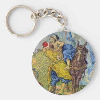 The Good Samaritan by Vincent Willem van Gogh Key Ring