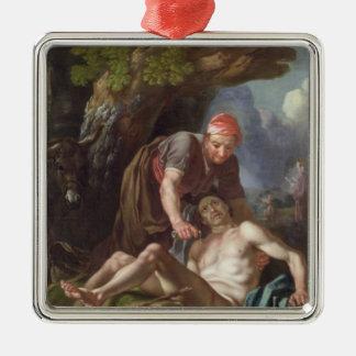 The Good Samaritan, c.1751-52 (oil on canvas) Silver-Colored Square Decoration