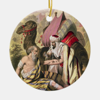 The Good Samaritan, from a bible printed by Edward Round Ceramic Decoration