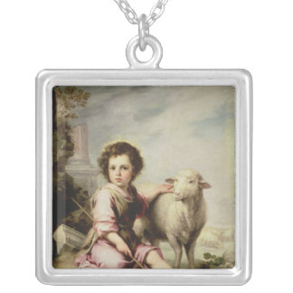 The Good Shepherd, c.1650 Silver Plated Necklace