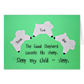 The Good Shepherd counts sheep... Greeting Card