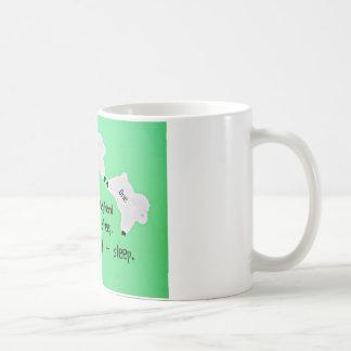 The Good Shepherd counts sheep... Basic White Mug