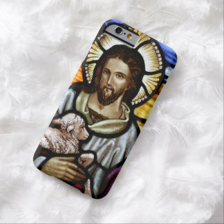 The Good Shepherd; Jesus on stained glass Barely There iPhone 6 Case