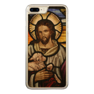 The Good Shepherd; Jesus on stained glass Carved iPhone 7 Plus Case